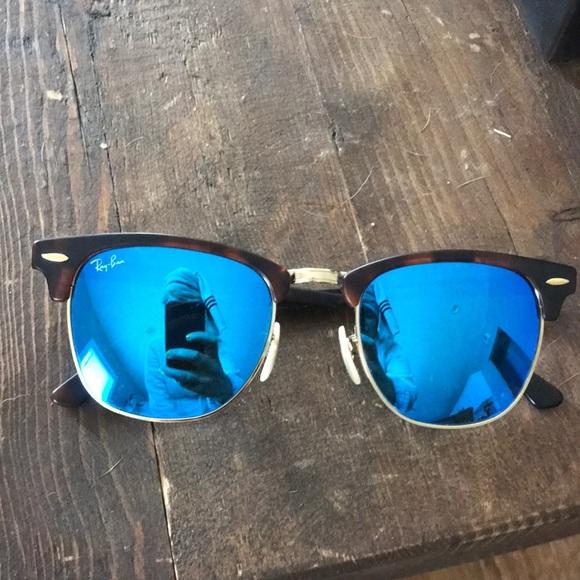 8728948ae Ray-Ban Accessories | Ray Ban Clubmaster Mirror Sunglasses | Poshmark